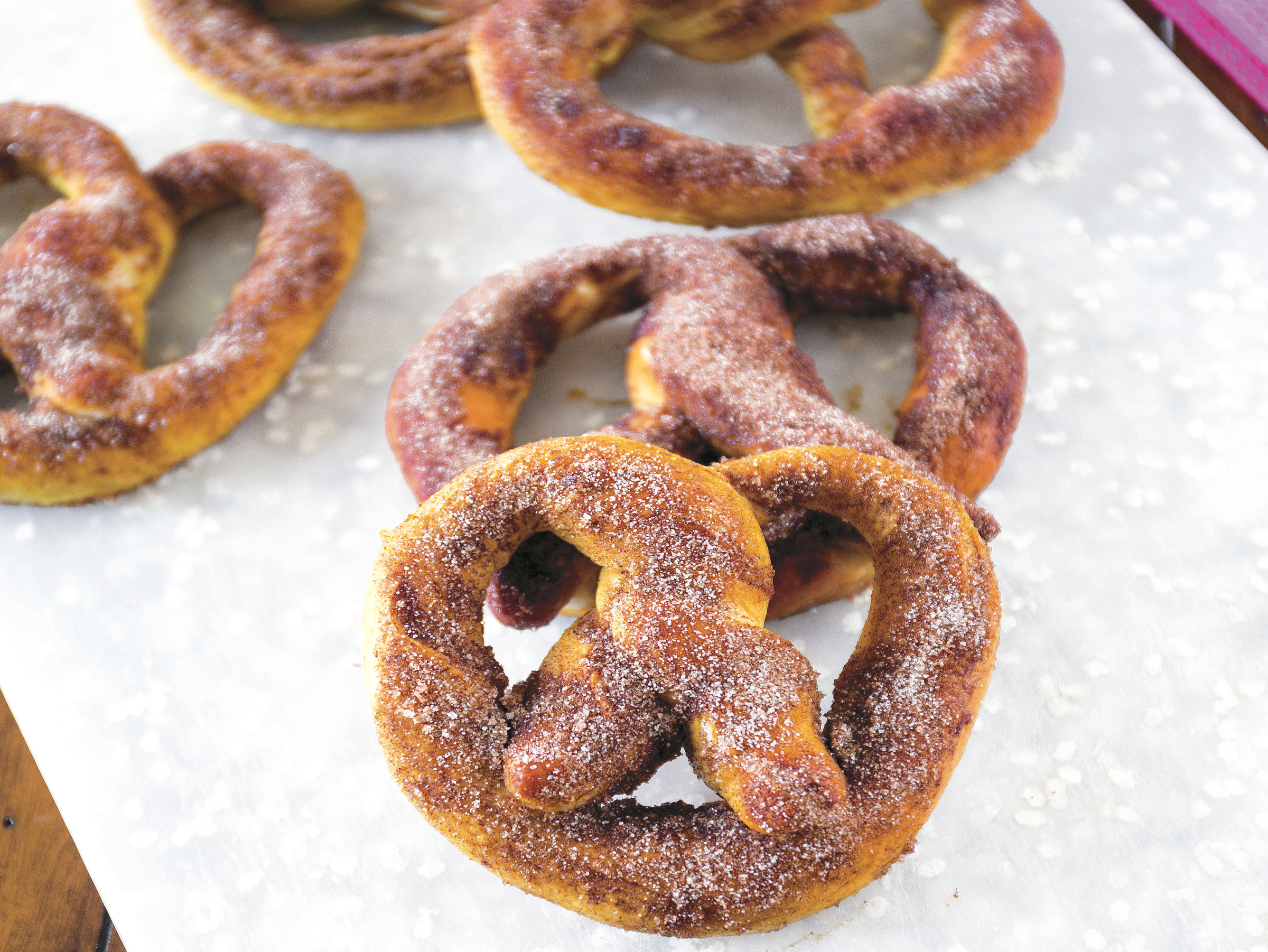 Cinnamon Sugar Soft Pretzels Recipe - Peg's Home Cooking