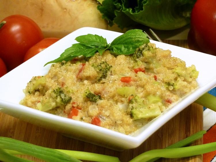 quinoa recipe, cheese, broccoli, pilaf, receipts