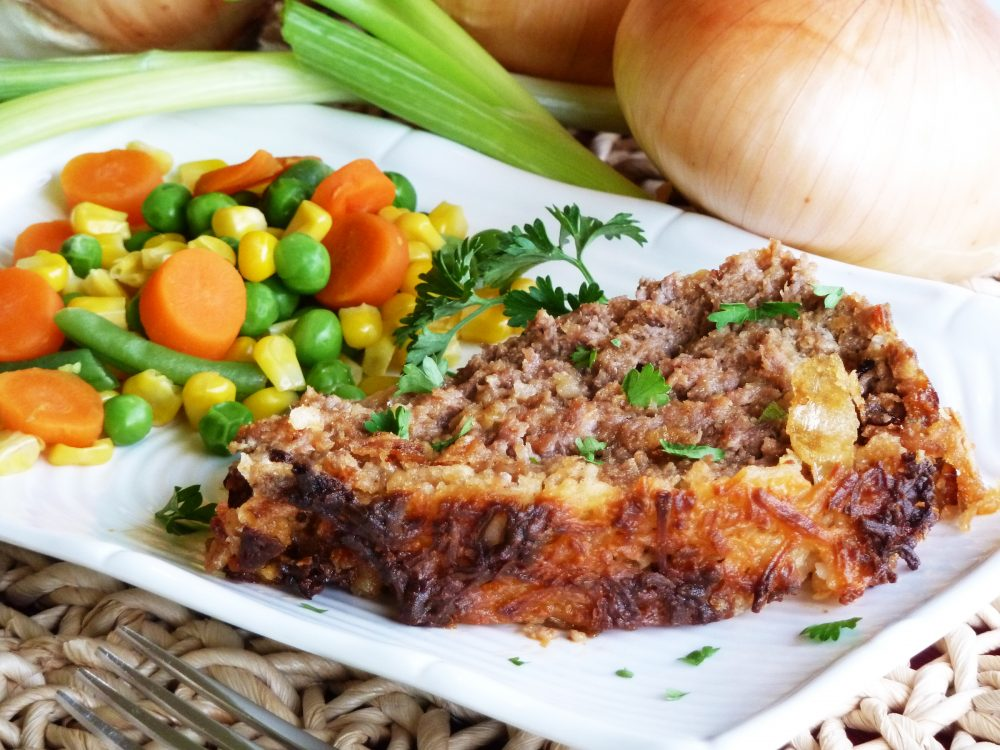French onion meatloaf is juicy and filled with all of the flavor you love from French onion soup.