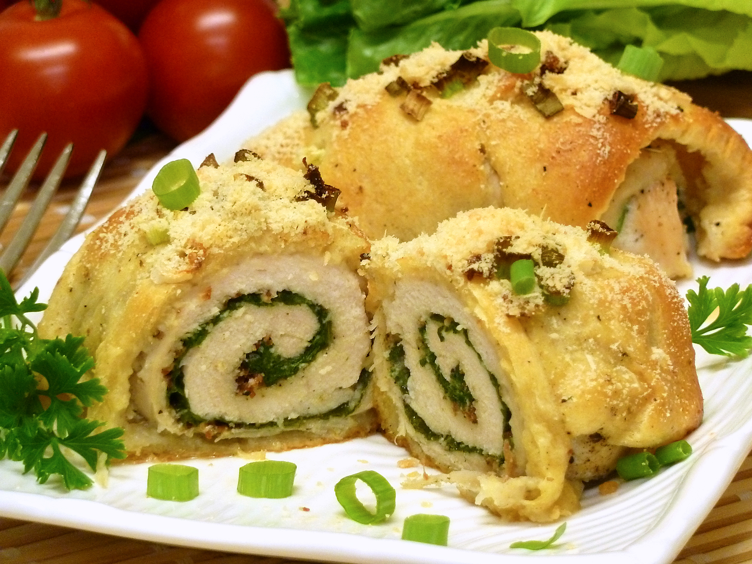 Spinach Chicken Roll Ups Recipe Peg S Home Cooking