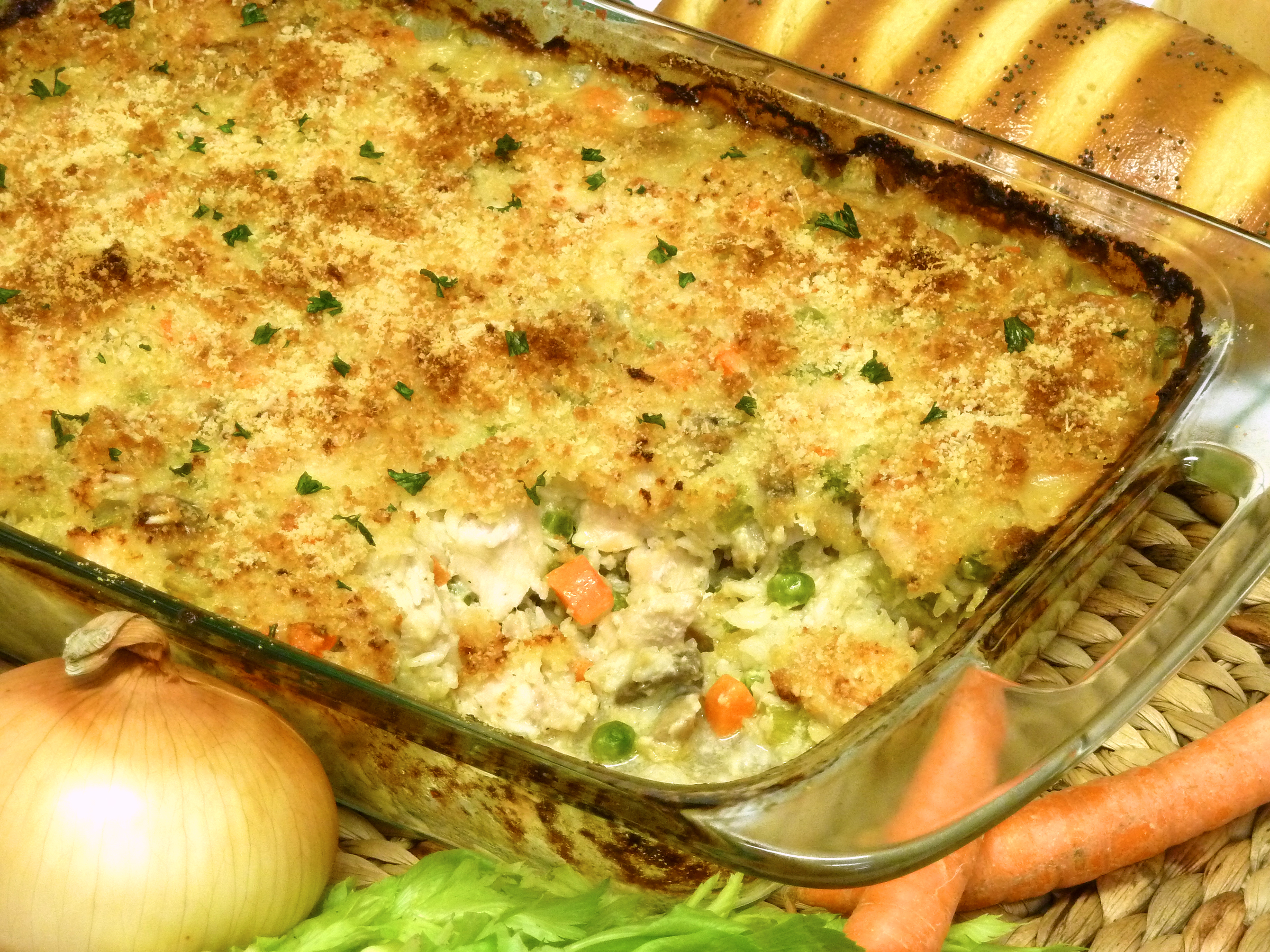 chicken casserole recipe, rice, cheese, receipts
