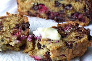 Scrumptious raspberry chocolate chip bread is made in the crockpot.