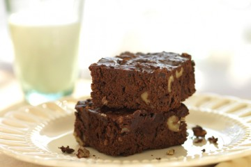 Luscious chunky chocolate brownies are kinder to your diet plan while still satisfying that chocolate urge.