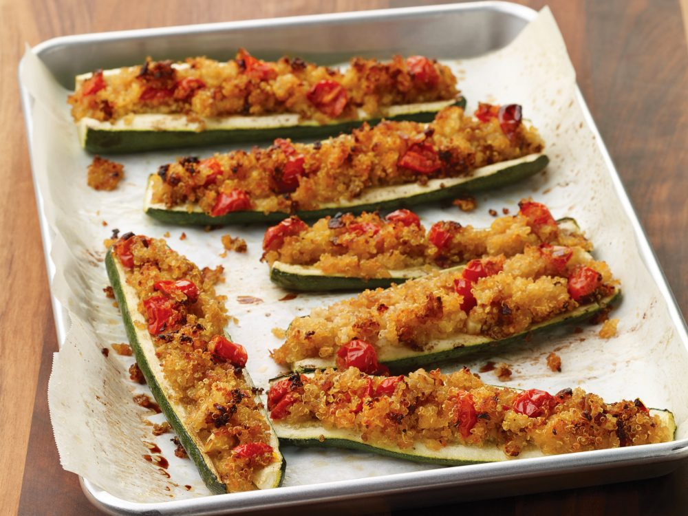 Crunchy quinoa stuffed zucchini recipe diabetic friendly pegs recipe image forumfinder Choice Image