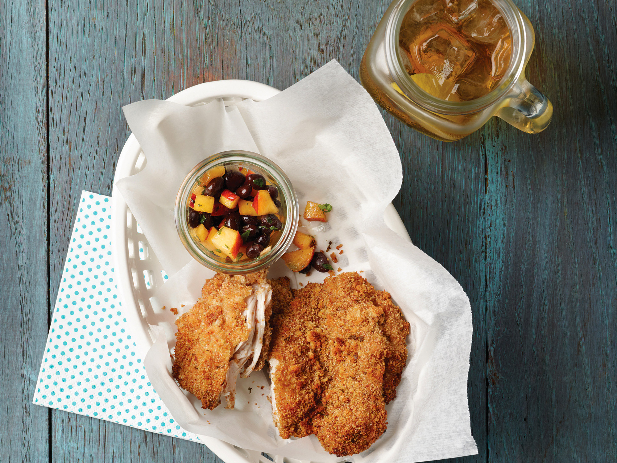 Easy diabetic-friendly fried chicken is baked in the oven.