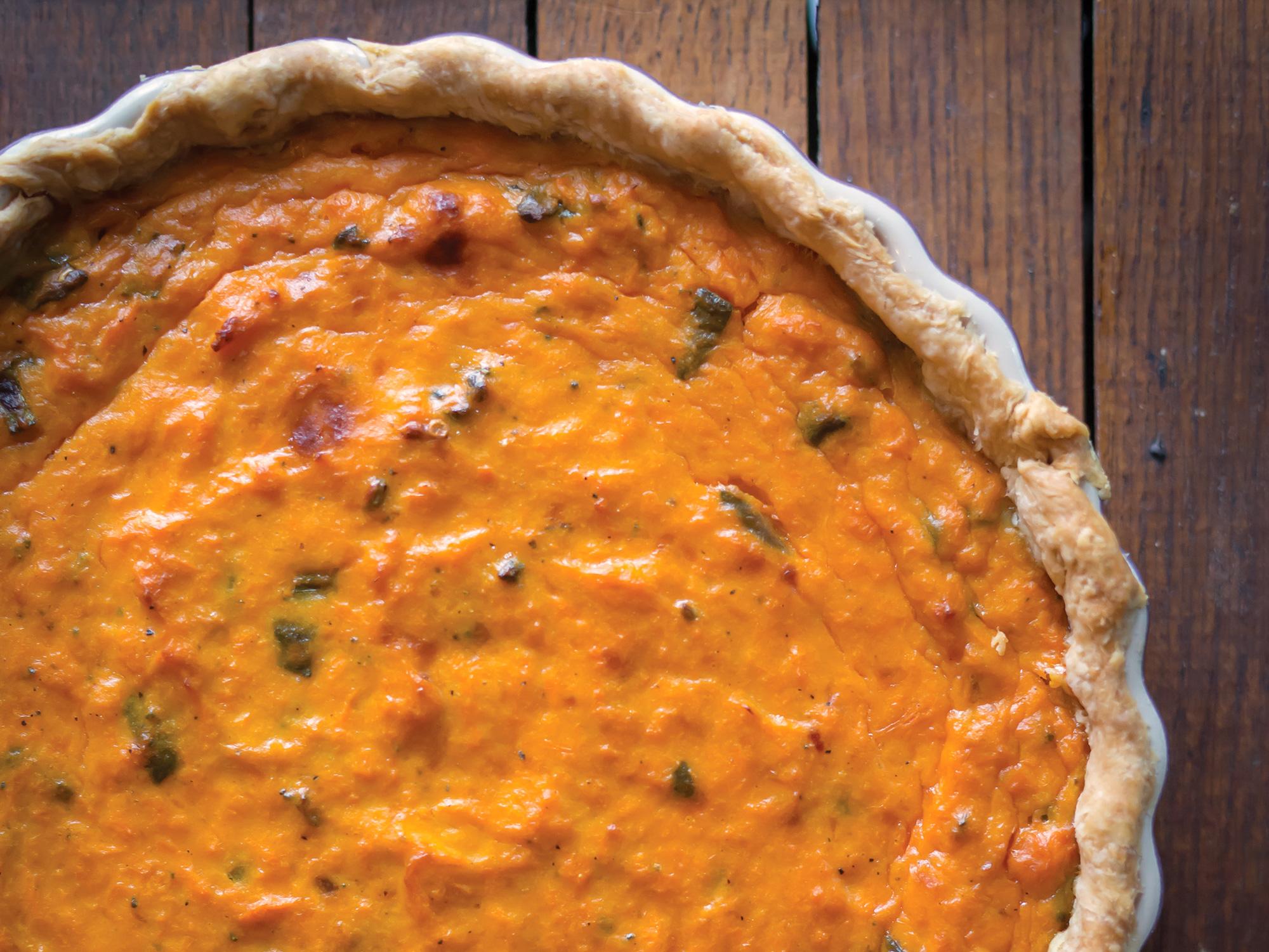 Savory Sweet Potato Pie Recipe - Peg's Home Cooking