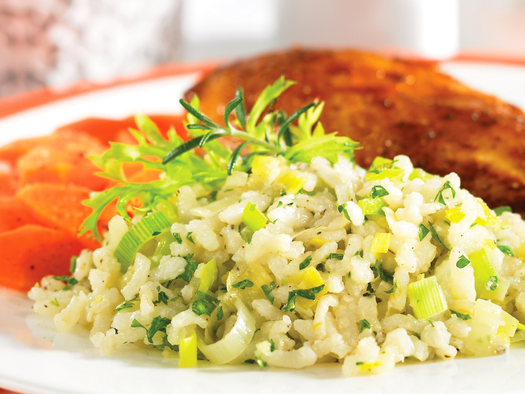 No constant stirring needed with this leek risotto made in the crockpot.