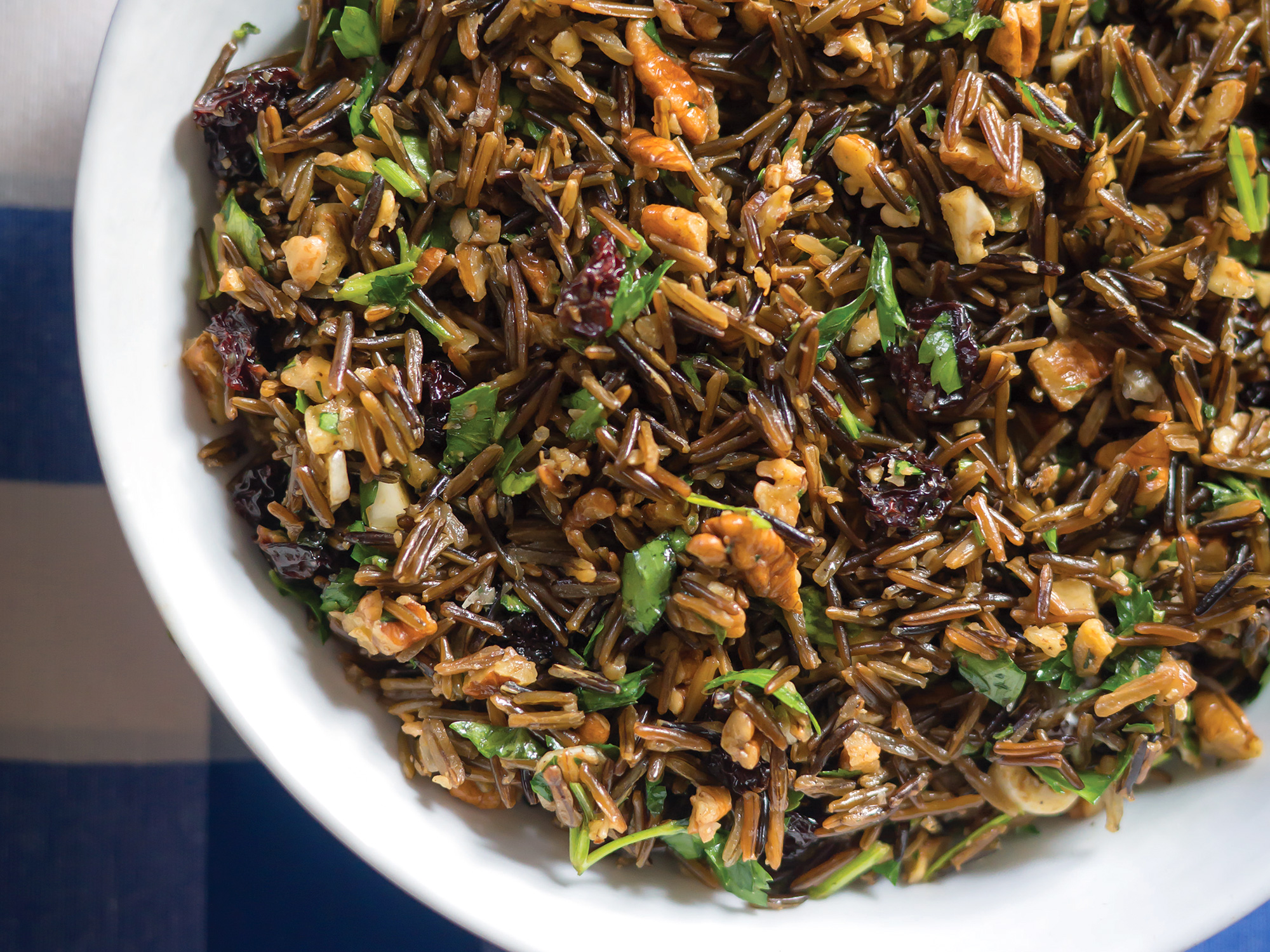 Chili oil, cherries, and pecans enhance this deliciously different Southern rice pilaf.