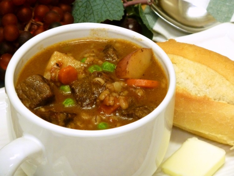 Nutty barley adds old-fashioned flavor to vegetable beef stew.