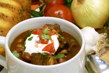 Easy Cowboy Chili with beans makes an inexpensive, filling meal.