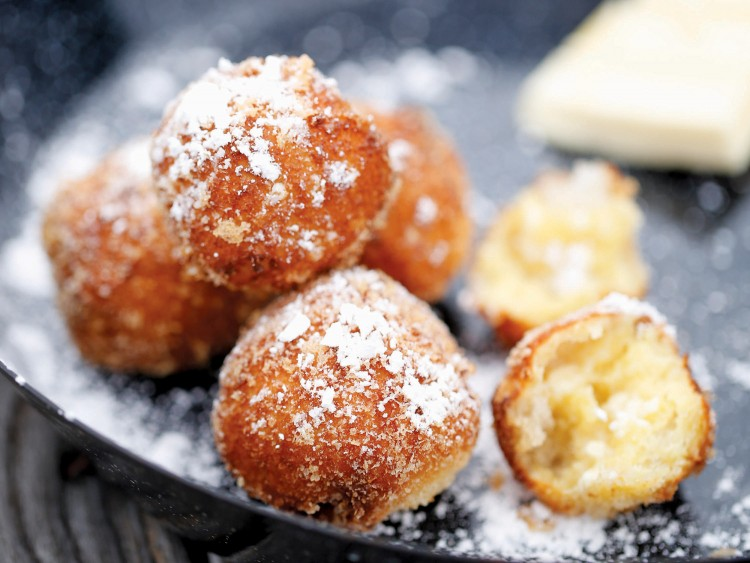 Who can resist beignets made with white chocolate?