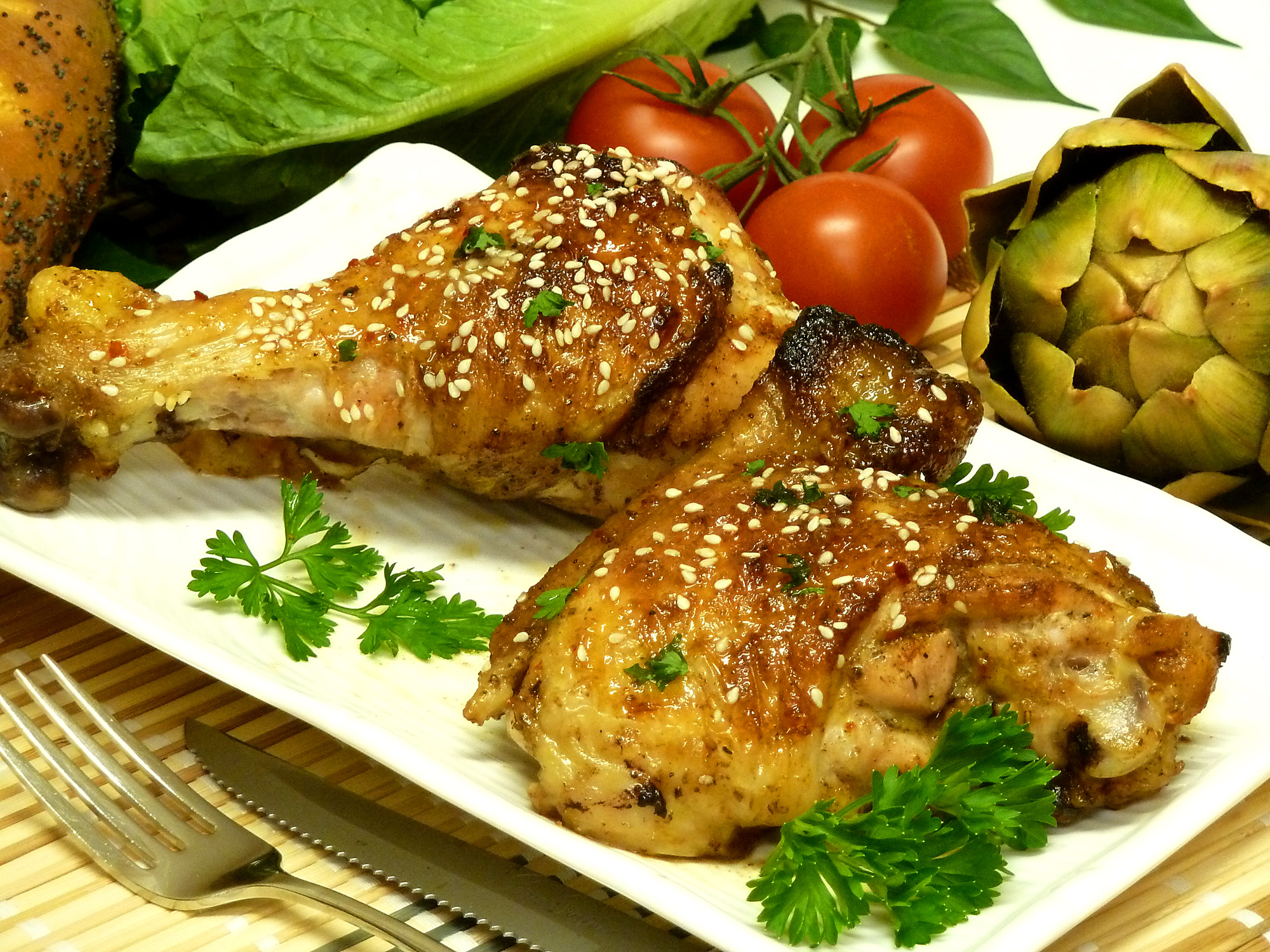 Sweet and spicy chicken gives your taste buds a kick.