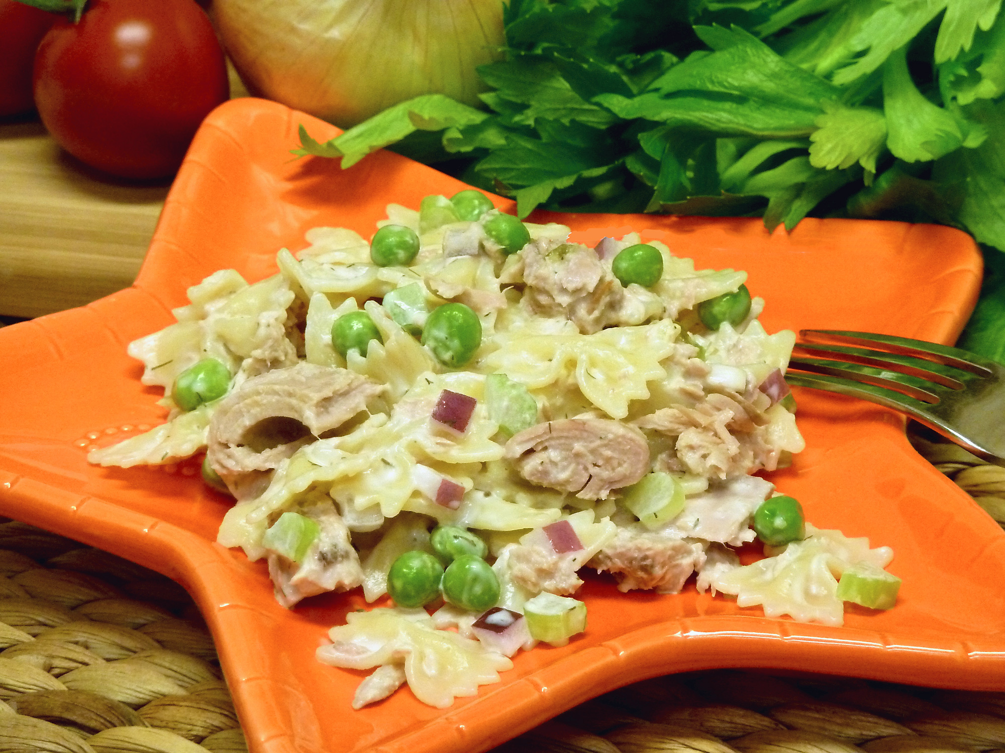 Easy, inexpensive tuna macaroni salad is the perfect side dish for a crowd.