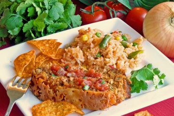 Loco turkey meatloaf gets spicy flavor from popular Doritos nacho tortilla chips.