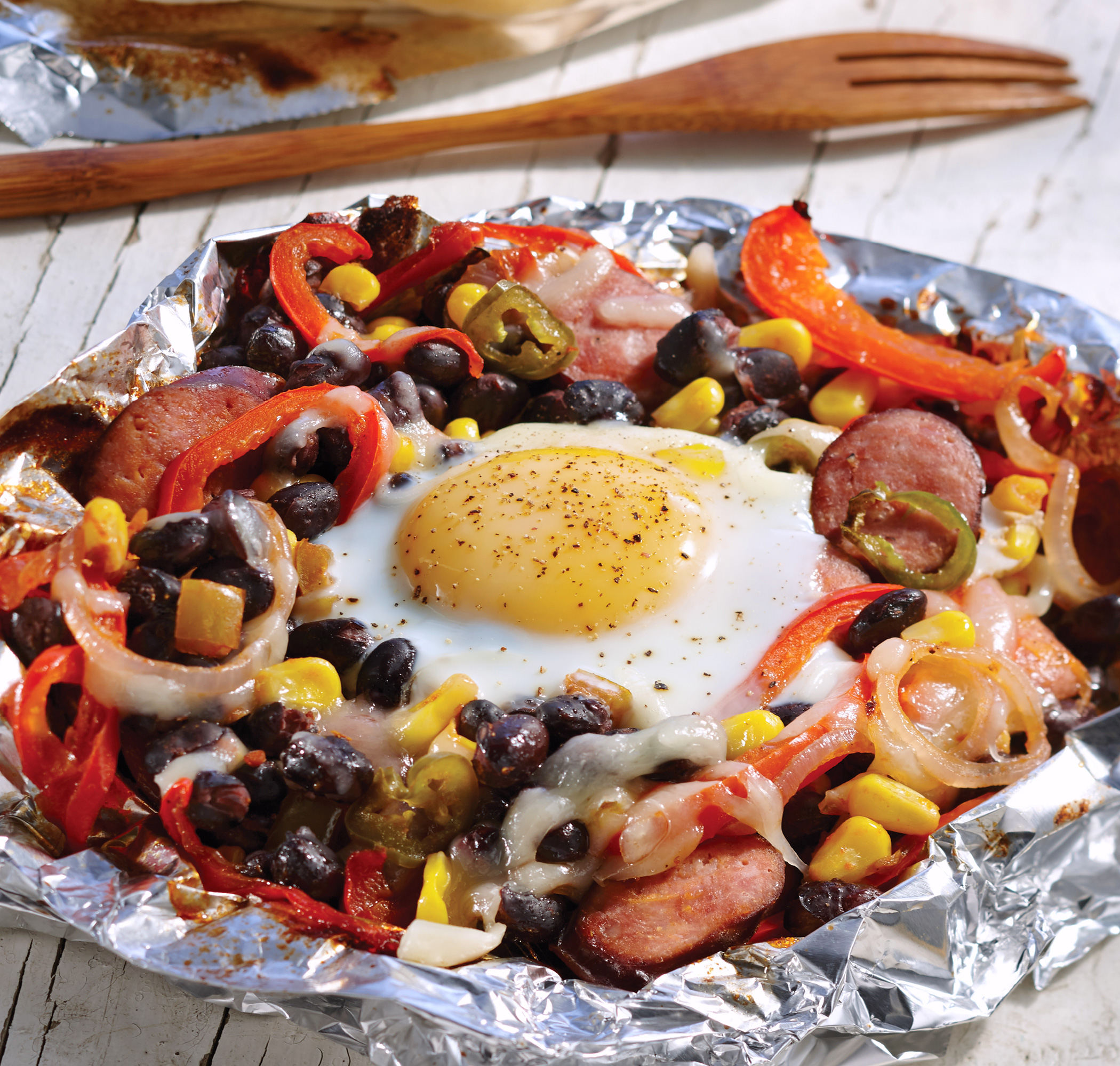 Make these yummy breakfast tacos in advance to take on your camping trip or enjoy at home.