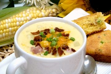 Ham Corn Chowder is rich, creamy, and filling enough for a main dish.