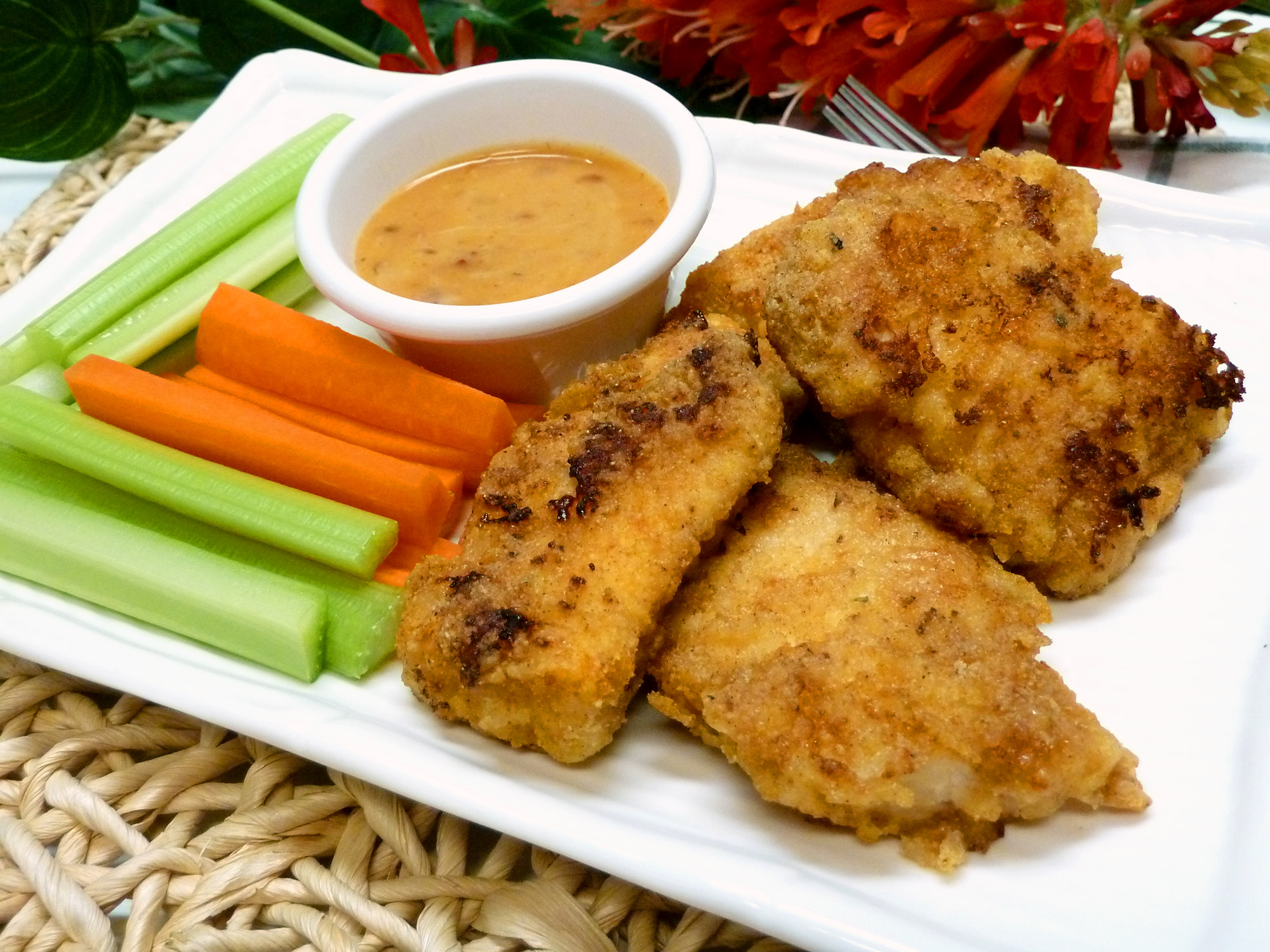 Enjoy delicious baked gluten-free chicken fingers without guilt.