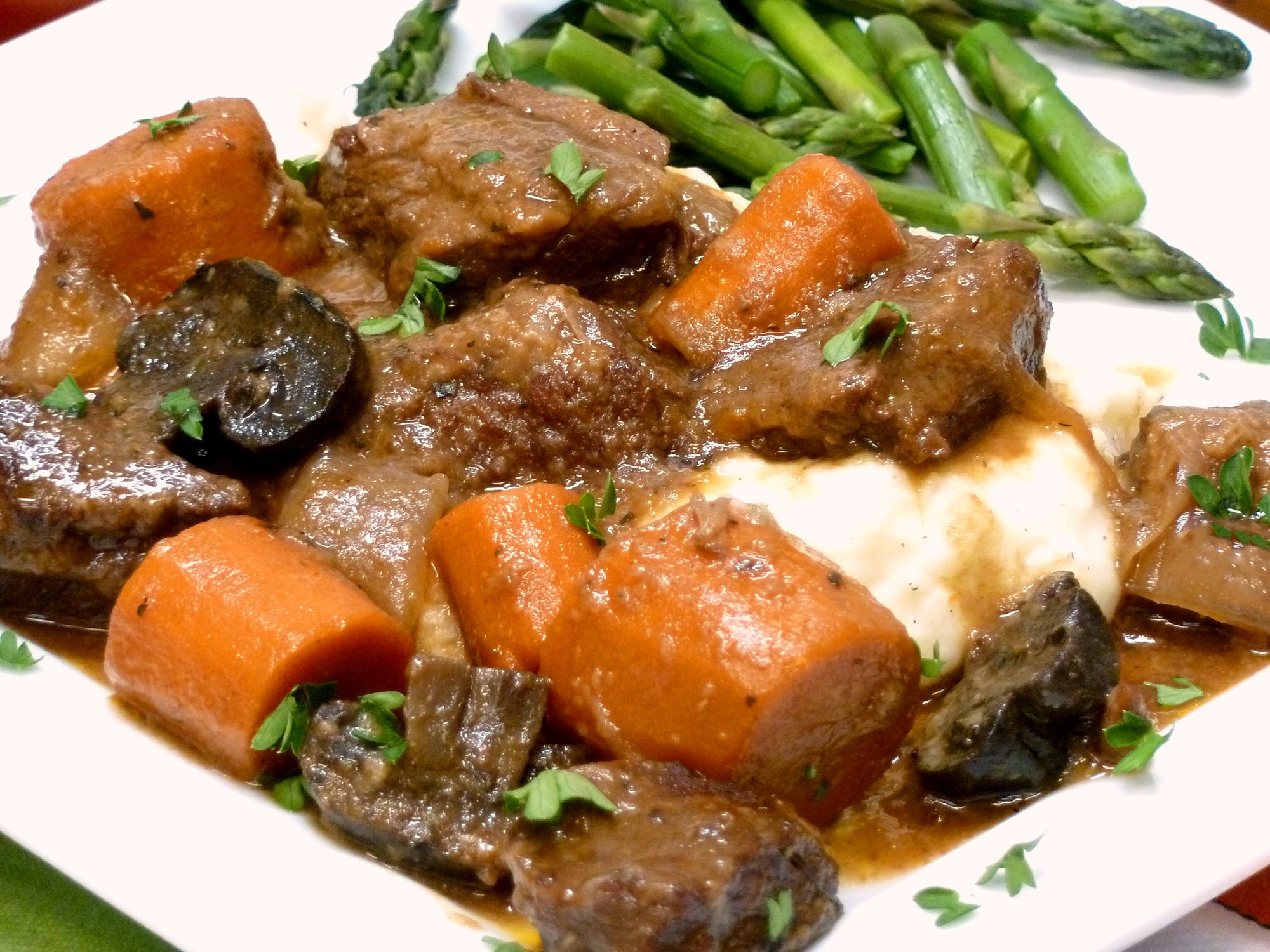 Here is a close-up of the Guinness beef stew. Can't you almost taste it?