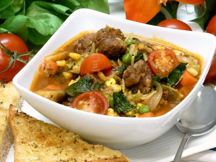 Delicious Italian sausage spices up this hearty stew loaded with chunky vegetables.
