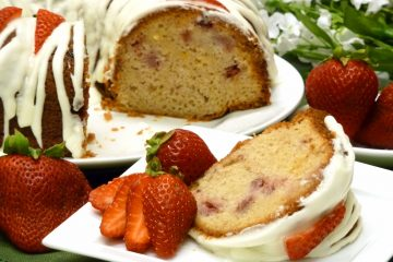 Fresh Strawberry Cake is beautiful to look at and a delight to the taste buds.
