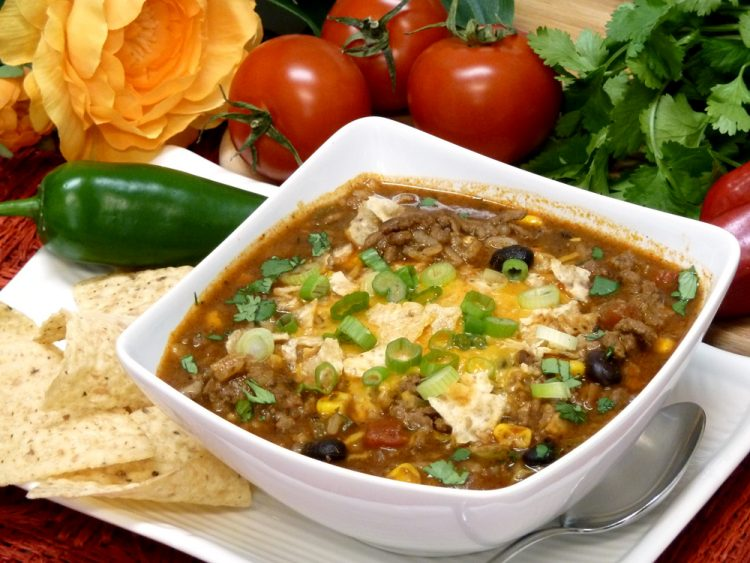 Southwestern Taco Soup combines your favorite Mexican flavors together in a hearty and filling bowl of soup.