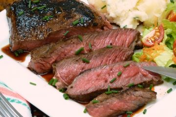 Tender, juicy steak is easy to make on the stove-top using this Best Skillet Steak Recipe.