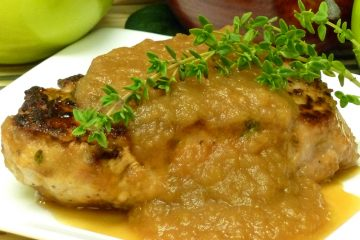 Tender boneless pork loin chops are complemented with a savory apple gravy.