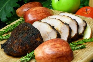 Spicy Apple Chip Pork Roast combines sweet apple chips with spicy chipotle chile powder makes a pork roast come alive with flavor.