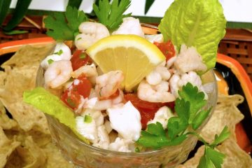 Ceviche with Shrimp is a light, refreshing dish treasured in the Caribbean and Latin America.