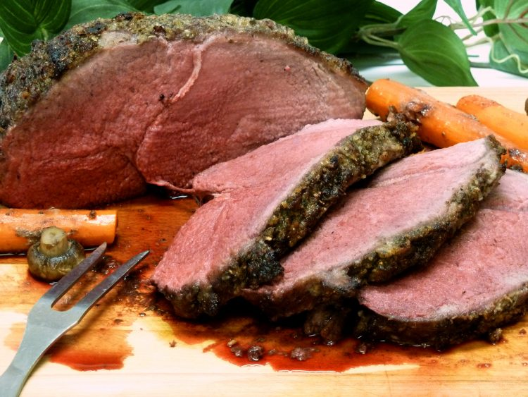 Juicy Garlic Herb Sirloin Tip Roast is the perfect alternative to prime rib for the budget-conscious family.
