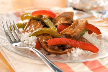 Gingered Pepper Steak cooks up in less than 15 minutes and is diet-friendly.