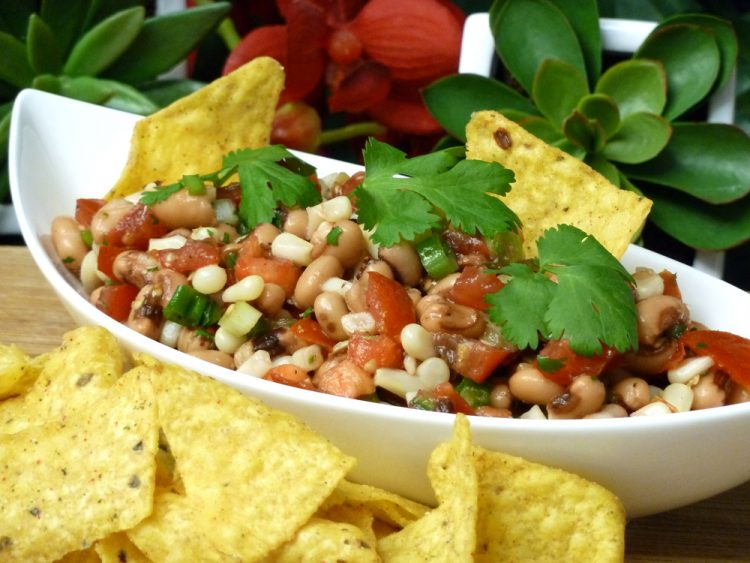 Texas Caviar blends black-eye peas and corn with chunky salsa for the ultimate Tex-Mex party dip.