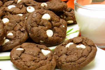 Yummy Triple Chocolate Shortcut Cookies go together fast because they begin with a cake mix.