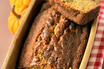 Delicious homemade pumpkin bread is great for snacks, coffee breaks, or breakfast.