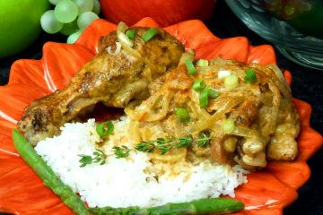 Curry Chicken swims in a luscious paprika yogurt sauce, perfect over rice.