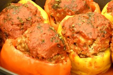 Hearty Italian meatloaf in peppers have all of your favorite flavors in individual servings.