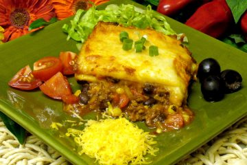 Layers of traditional Mexican flavors and cheese abound in this easy Mexican Lasagna casserole.