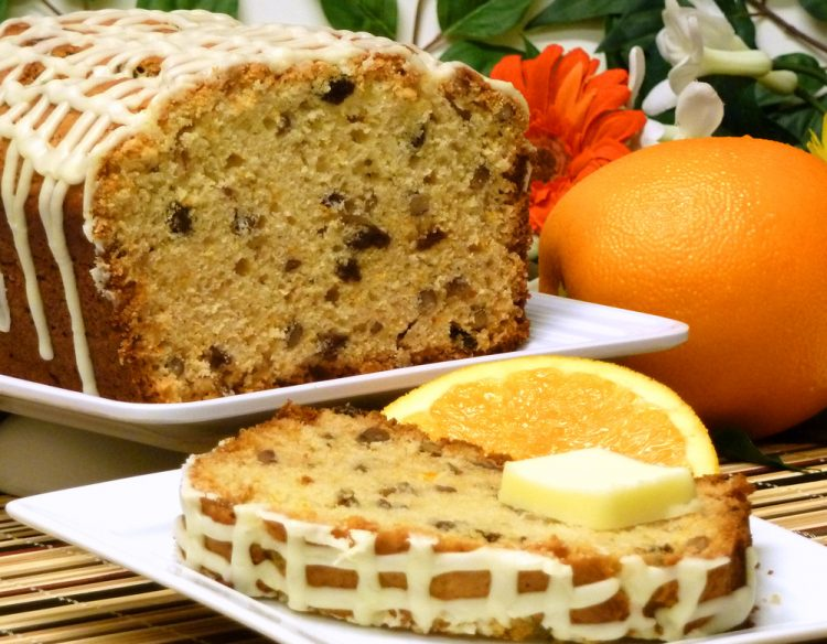 Delicious orange marmalade bread starts your day with tangy delight.