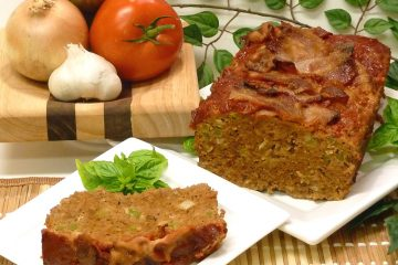 Grandma's Meatloaf will take you back to your childhood. Drool over the crispy bacon on top.
