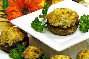 Sausage adds a spicy dimension to sausage cheese stuffed mushrooms. Perfect for parties.