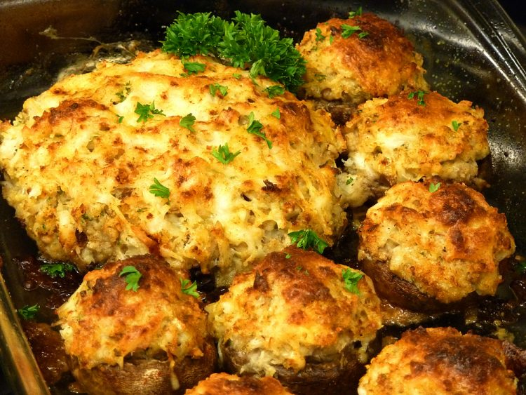 Delicious Crab Stuffed Mushrooms are great as an entree or appetizer.