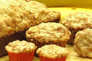 Banana Pineapple Streusel Muffins are the perfect accompaniment to your favorite breakfast beverage.