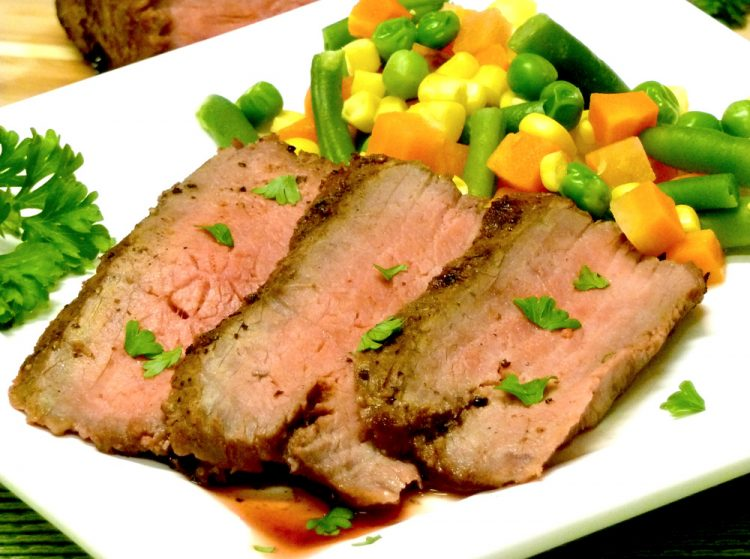 Wine marinade helps tenderize and flavor London Broil Marsala. Restaurant-quality and easy.