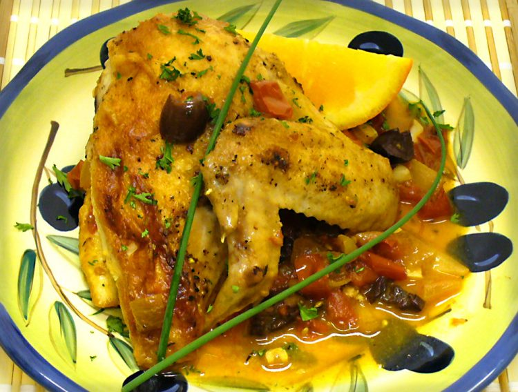 Golden, juicy Tomato Saffron Chicken is fancy enough for guests, yet easy to make.