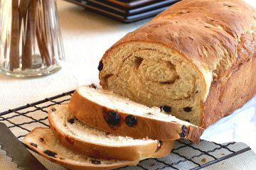 Homemade cinnamon swirl raisin bread is a welcomed breakfast treat.