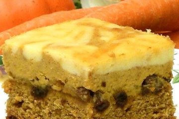 Pumpkin pie, carrot cake, and cheesecake all in one easy, delicious bar cookie.