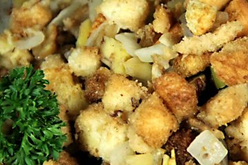 Savory chestnut stuffing just like Grandma used to make.