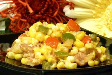 "Bacon Corn Saute is a delicious new twist on traditional Southern ""fried"" corn."
