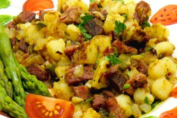 Old-fashionied Corned Beef Hash is a favorite American comfort food.