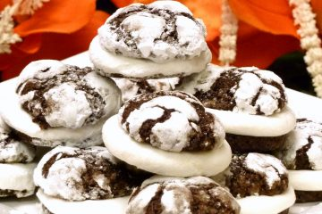 Marshmallow Brownie Sandwich Cookies are easy to make and oozing with a center of gooey marshmallow.